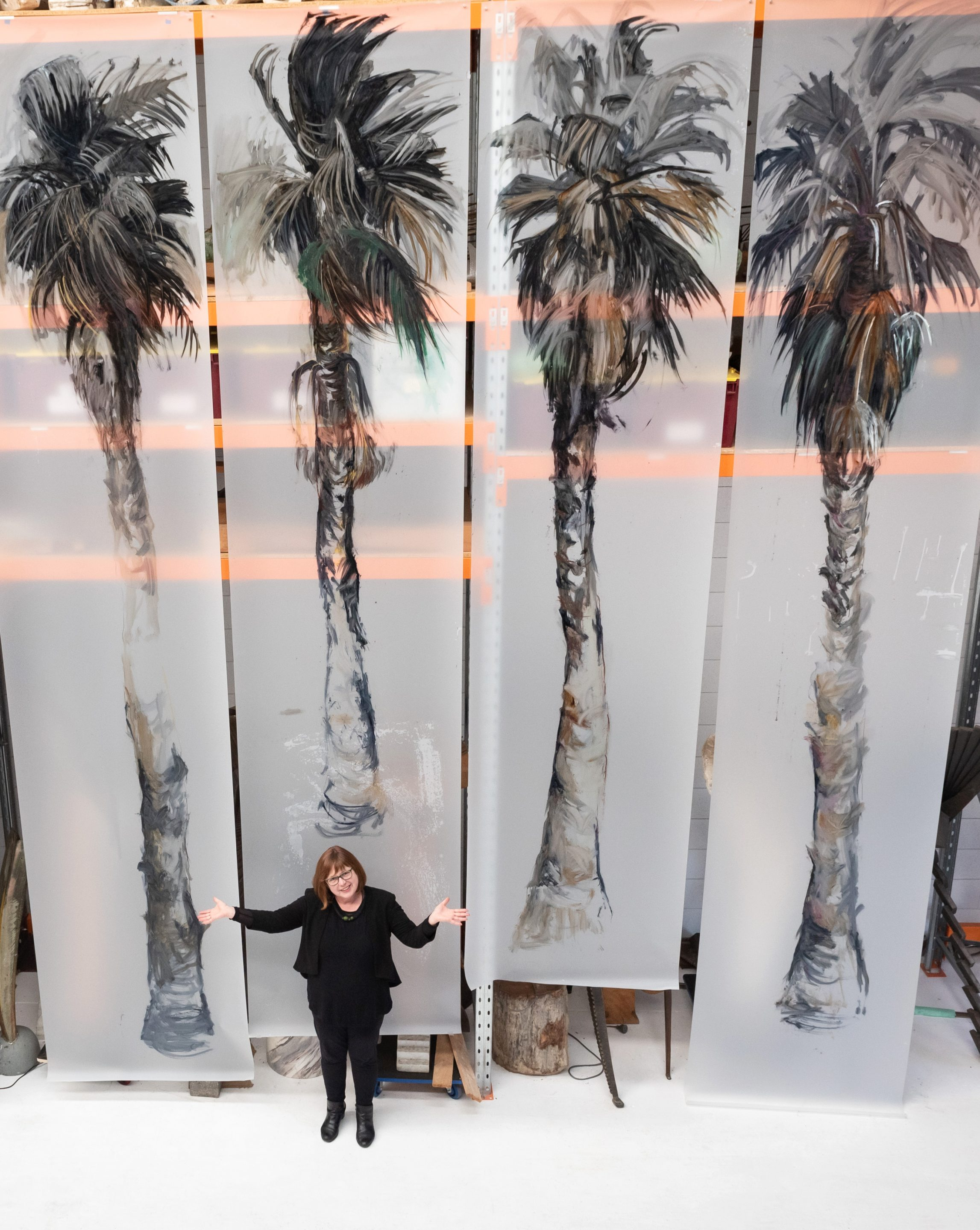 Anne Bennett with Palm Trees
